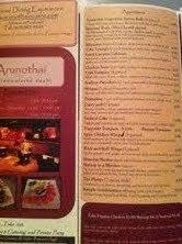 Restaurant Menu at Arunothai Cuisine