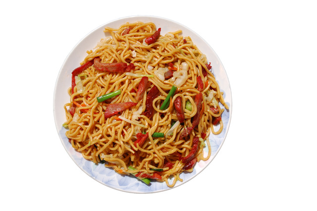 B.B.Q. Pork Chow Mein at Shanghai Restaurant