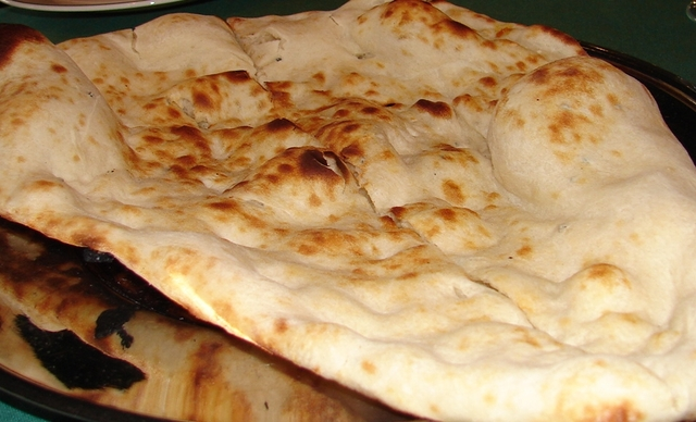 delicious bread - Naan at Namaskaar