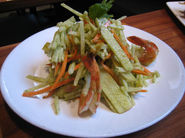 Fuji Apple and Prawn Salad at Straits Restaurant