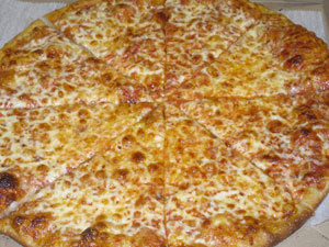 Cheese Pizza at Mark's Sandwich Shop