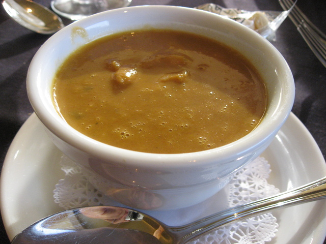 Cup of Lobster Bisque at Harborside Restaurant & Grand