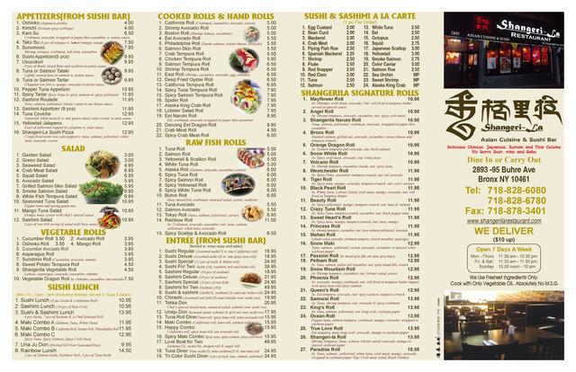 Dish at Shangerila Restaurant