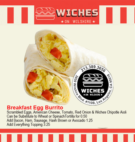 Wiches Egg Burrios at Wiches on Wilshire