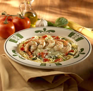 Grilled Shrimp Caprese at Olive Garden