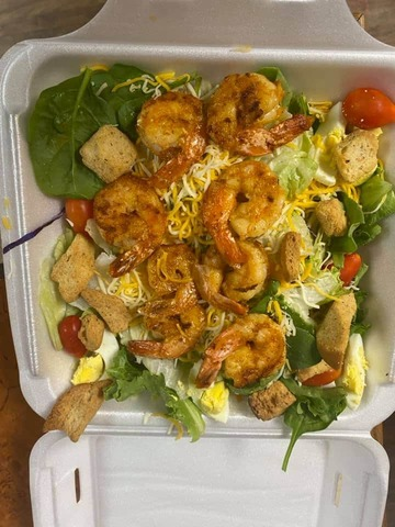 Fried or Grilled - Shrimp Salad at McFarland's Cafe de Cajun