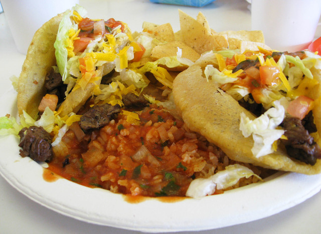 Puffy Taco Plate at Arturo's Puffy Tacos