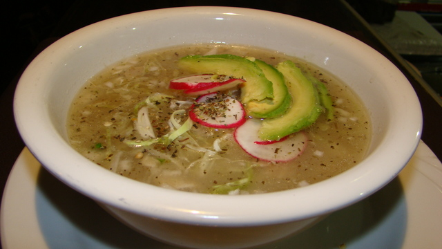 Pozole at El Mestizo Restaurant