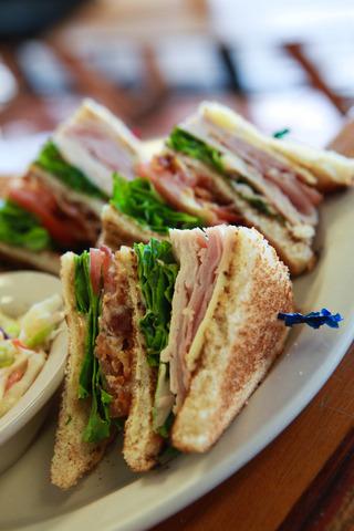 Club Sandwich at Peach's Restaurant