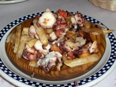 Octopus and potatoes tapas - Pulpo a La Plancha at Cafe Iberico