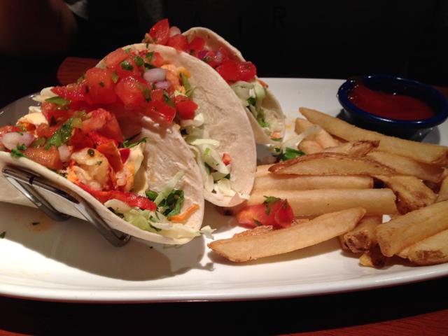 Lobster tacos at Red Lobster