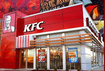 Exterior at KFC - Kentucky Fried Chicken