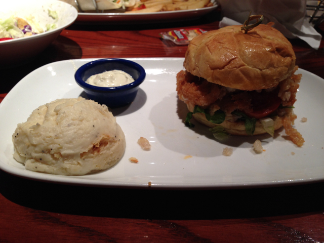 Crunch-Fried Fish Sandwich at Red Lobster
