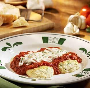 Manicotti Formaggio at Olive Garden