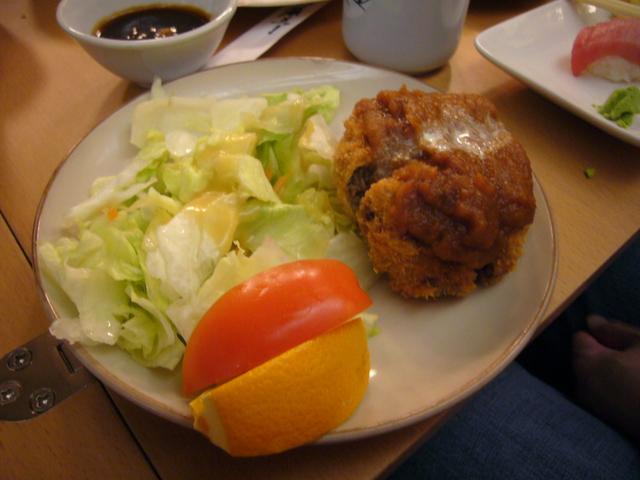 Menchi Katsu at Kiku Sushi