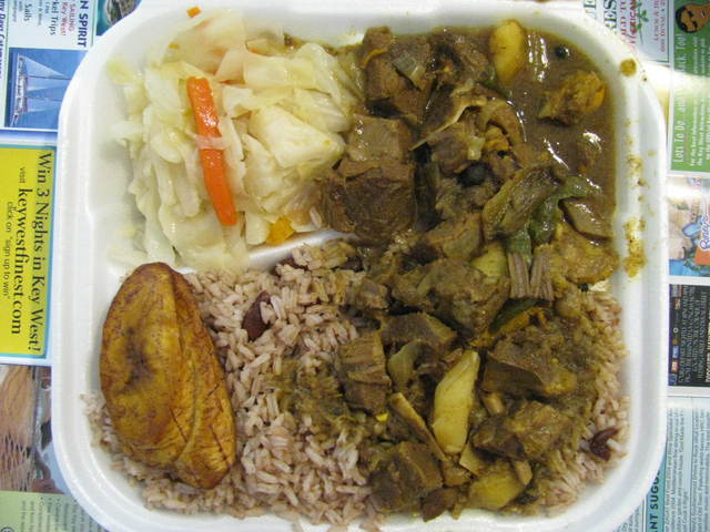 Curry goat at Irie Isle