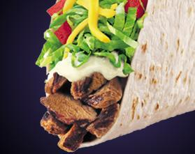 GRILLED STEAK SOFT TACO at Del Taco