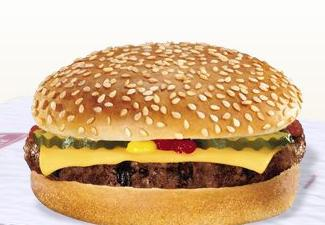 Cheeseburger at Burger King