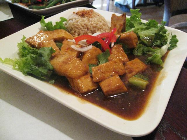 Spicy Lemongrass Tofu  at One World Vegetarian Cuisine