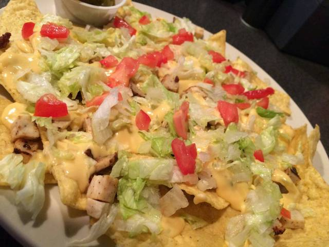 Chicken Nachos at Mean Woman Grill