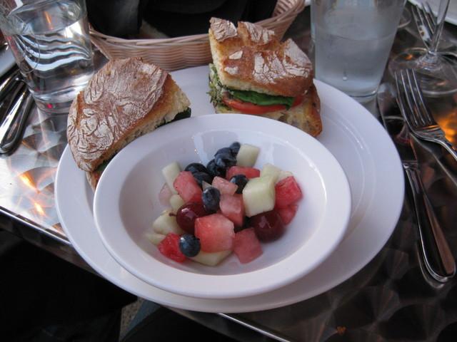 Photo of Fresh Mozzarella and Tomato Sandwich