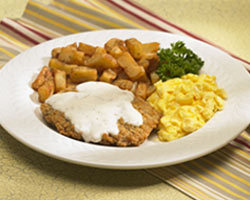 Country Fried Steak & Eggs at Mimi's Cafe