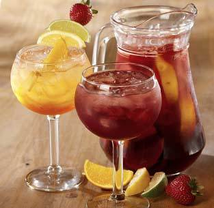 Sangrias Peach, Berry or Tropical at Olive Garden