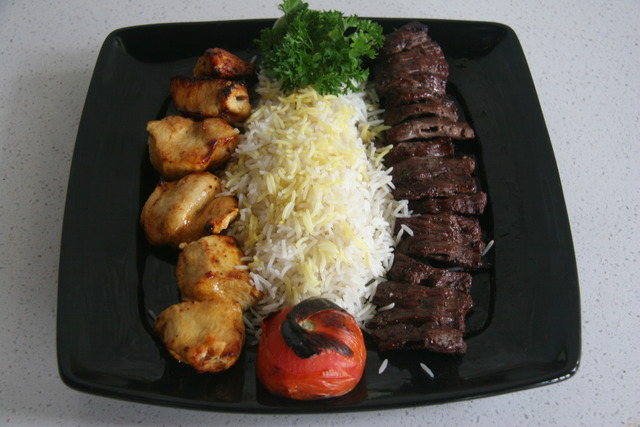 Barg is Filet mignon so the reason for the price - Chicken & Barg Sultinies (Combo) at Mazadar Kabob