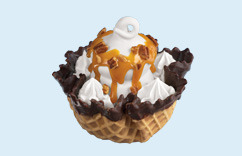 Waffle Bowl Sundaes at Dairy Queen