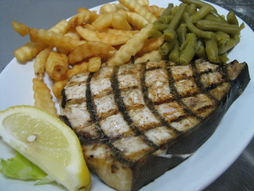 Swordfish at Shopper's Cafe Bar & Grille