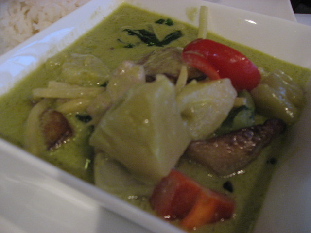 Green Curry Chicken at Yellow Ginger