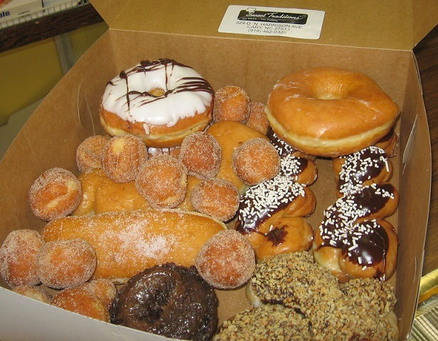 A dozen donuts at Sweet Traditions Bakery