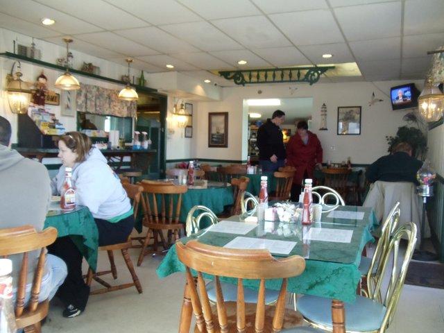 Interior at Breakfast Cafe
