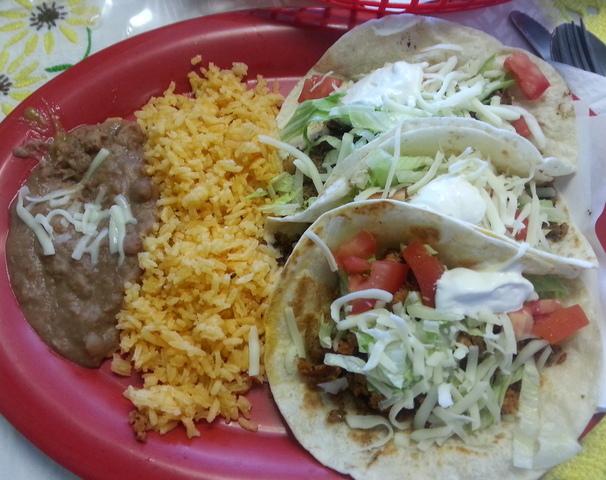 Taco Plate at Algonquin Mexican Restaurant