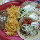 Taco Plate at Algonquin Mexican Restaurant