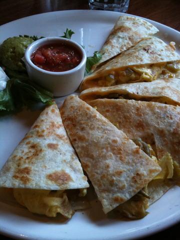 Breakfast Quesadilla at Lazy Dog Cafe