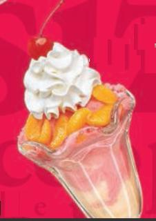 Fruit & Sherbet Sundae at Friendly's