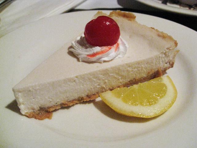 Cheesecake at One World Vegetarian Cuisine