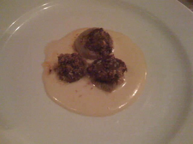 Carne Cruda of Wagyu Beef with Parmigiano Reggiano at Cafe Juanita