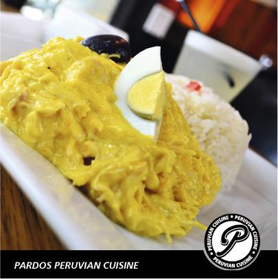 Ají de gallina at Pardos Peruvian Cuisine