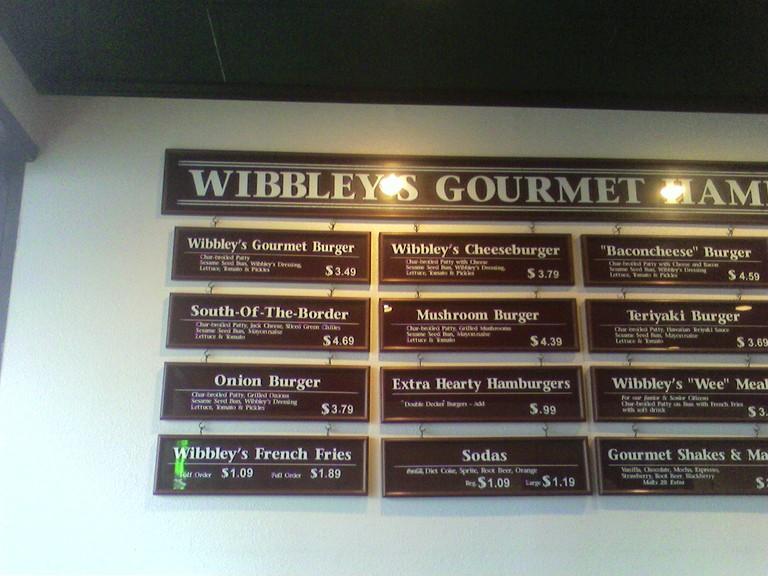 Restaurant Menu at Wibbley's Gourmet Hamburgers