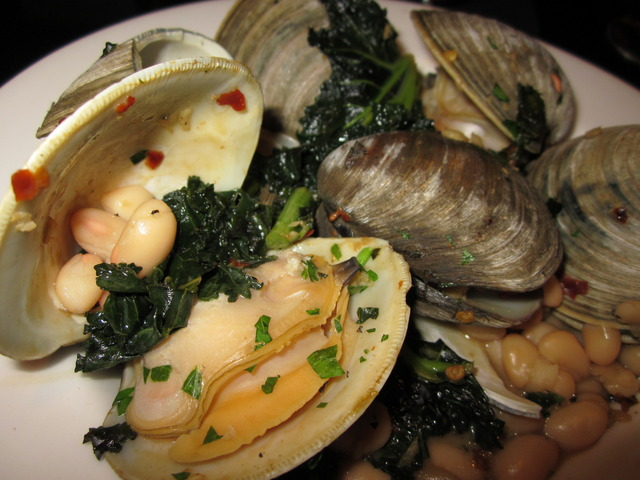 Clams, Greens & Beans (chef's tasting menu) at Devon Seafood + Steak