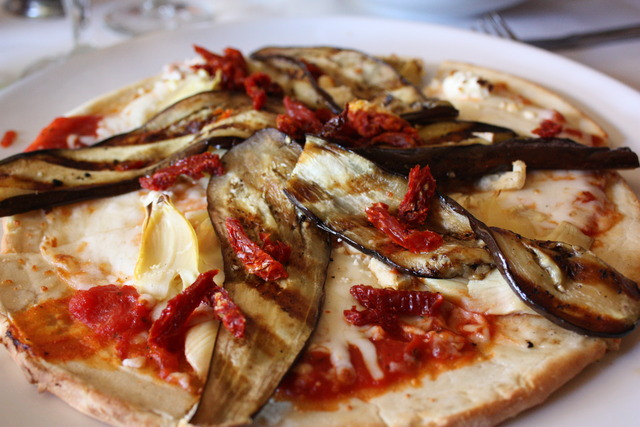 Eggplant Pizza at 26 Beach Cafe