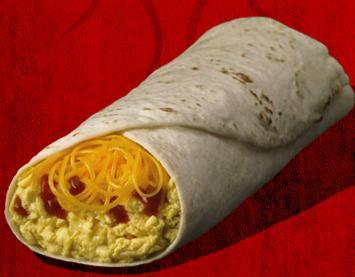 Egg & Cheese Burrito at Taco Bell