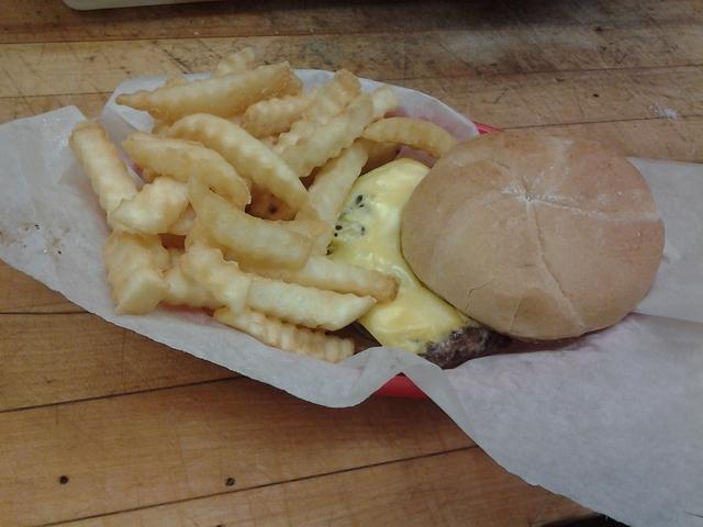 Kids Burger at Monroe Diner Inc