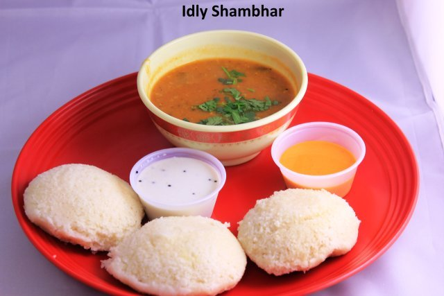 Idly Sambhar at Standard Sweets and Snacks