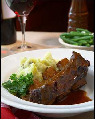 BBQ Bison Short Ribs at Ted's Montana Grill