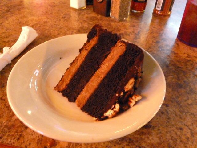 chocolate turtle cake at Jazz