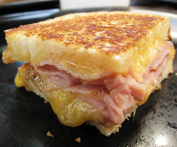 Photo of Cheddar, Ham and Apple Sandwich