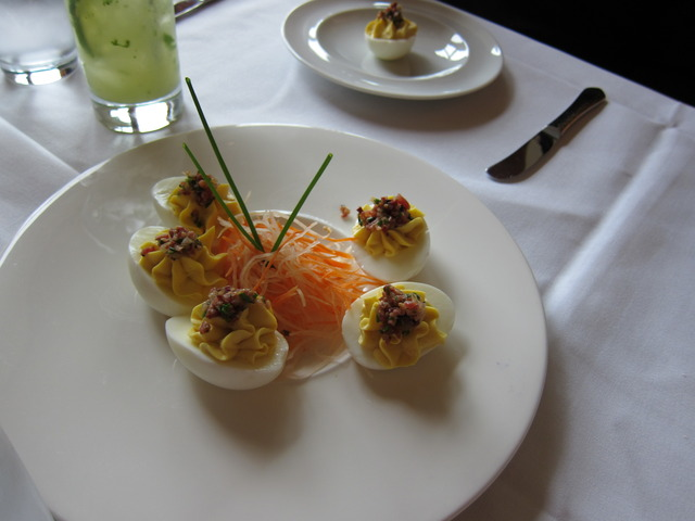 Deviled eggs at John Howie Steak Restaurant
